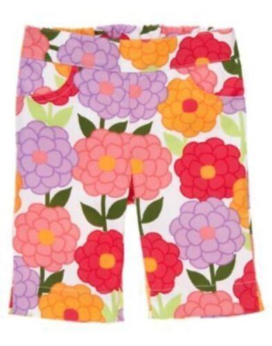 GYMBOREE PRETTY POSIES MULTI FLOWER CAPRI PANTS 12 18 24 2T 3T NWT