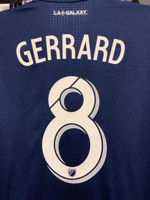 brand new ad6cf 17876 Adidas Mls LA GALAXY Away Jersey Navy Blue #8 Steven Gerrard Size Large Only
