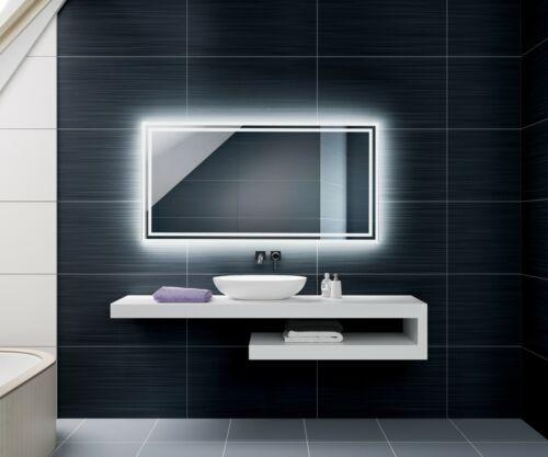 Badspiegel mit LED Beleuchtung Wandspiegel Lichtspiegel BLUETOOTH SCHALTER UHR