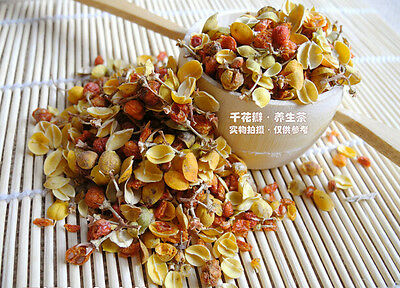 [Gold] Organic Chinese Albizia Flower Floral Herbal Health Tea - Help Sleep