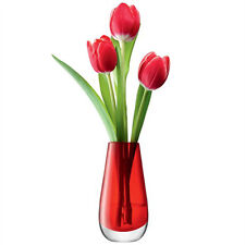 LSA Flower Colour Bud Vase H14cm - Red
