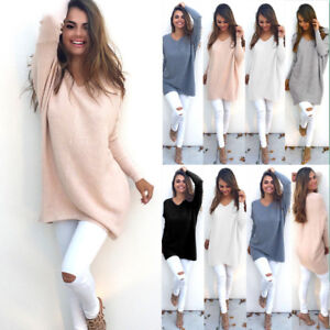 UK-LADIES-WOMENS-V-NECK-LONG-SLEEVE-KNITTED-JUMPER-SWEATER-CASUAL-TOPS-WINTER