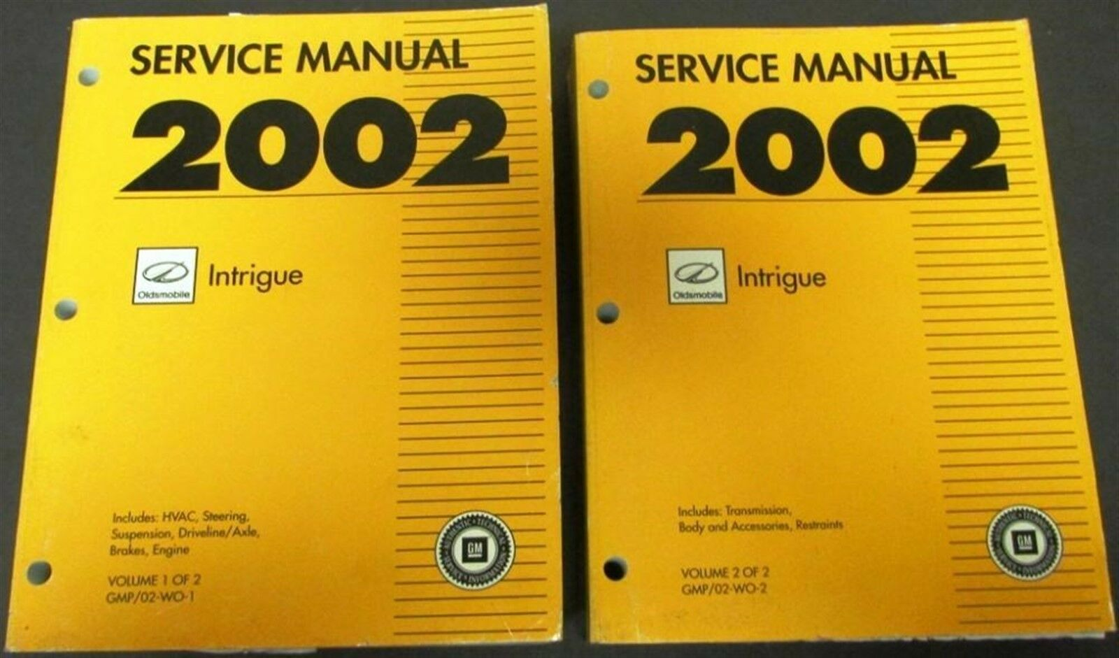 2002 Oldsmobile Intrigue Dealer Service Shop Manual Set Repair Engine Wiring A C