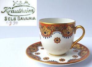 Collector-039-s-Place-Setting-Mocha-Cup-Saucer-Krautheim-amp-Adelberg-Bavaria-Um