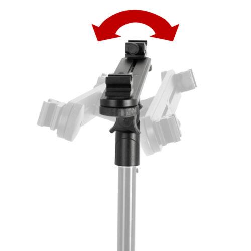 Doppio universale a slittamento Ombrello con Speedlite traversa con slot di metallo fatto Forte