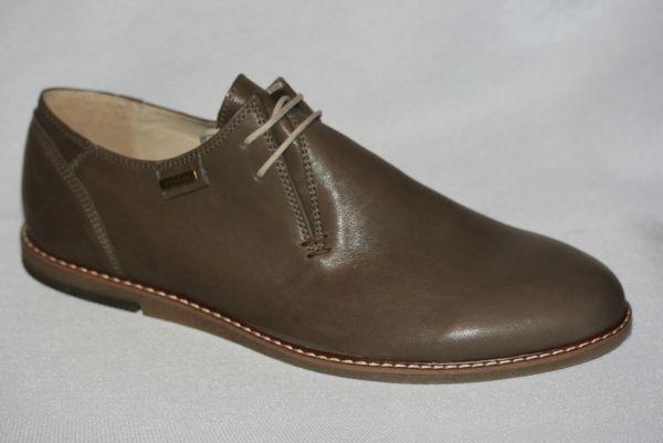 Echtleder Herrenschuhe creme / cappuccino bequeme Schuhe HA8818 Glattleder