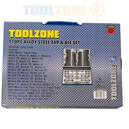 Toolzone 110pc Alloy Steel Tap and Die Set DIY Garage Workshop