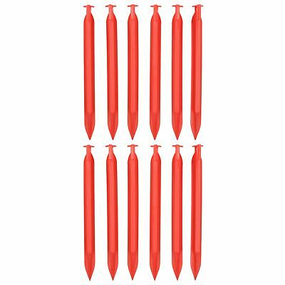 12pc Heavy Duty Plastic Tent Awnings Marquees Pegs For Camping 220mm Long
