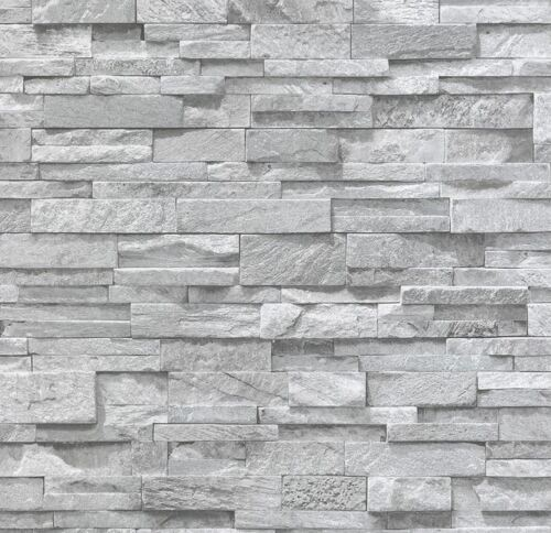 3D Effet Brique Ardoise Pierre Papier Peint Gris Granit Grès réaliste Texturé