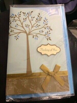 Paper Craft Thinking Of You Card With Envelope New!!!