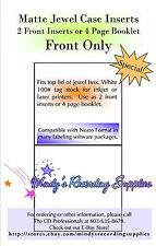 Matte Jewel Case Inserts Front J Card Neato Printable 20 Pack 90 Lb