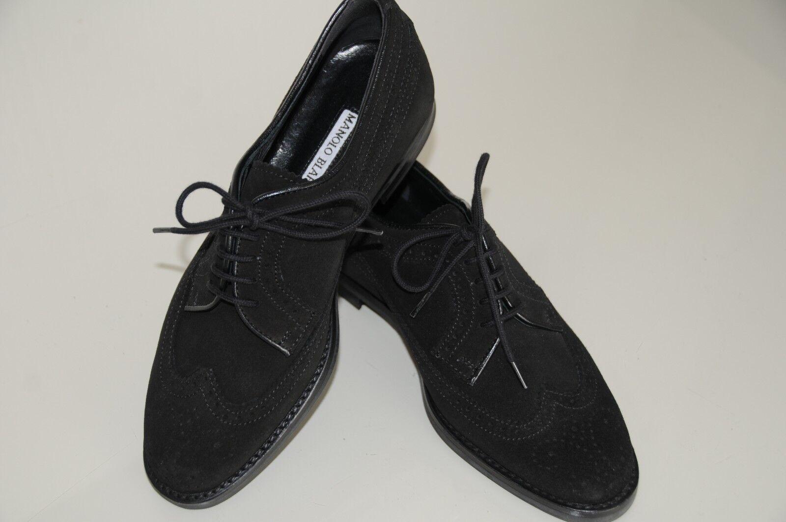 745 745 745 Nuevo Manolo Blahnik Pisos Lorenza espectador Con Encaje Negro Zapatos 34.5 35,5  saludable