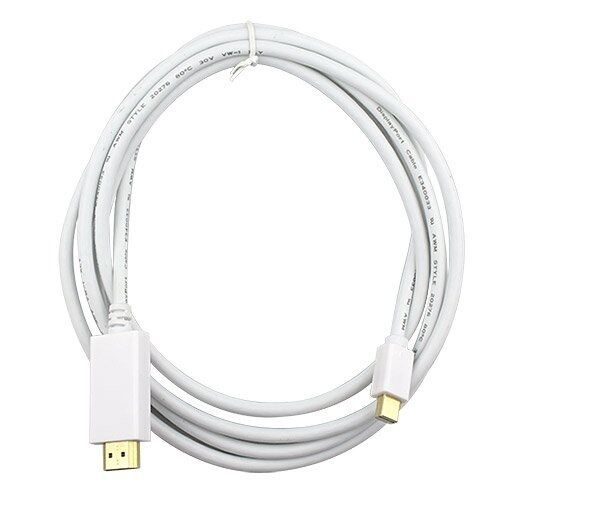 Adapter Cable 1,8m Mini Displayport For HDMI For Mac, Holder Audio
