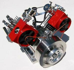 Howell V Twin 4 Cycle Gas Engine Plans Pdf Ebay