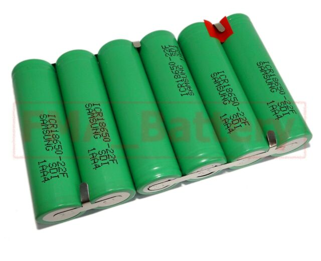A SAMSUNG Rechargeable Li-ion Battery 18650-22F  11.1V 4400MAH 3S2P by 6pcs cell