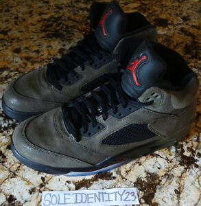 12dfb8af0483b5 AIR JORDAN RETRO 5 V FEAR PACK MENS SZ 11 RAGING BULLS SUPREME DB ...