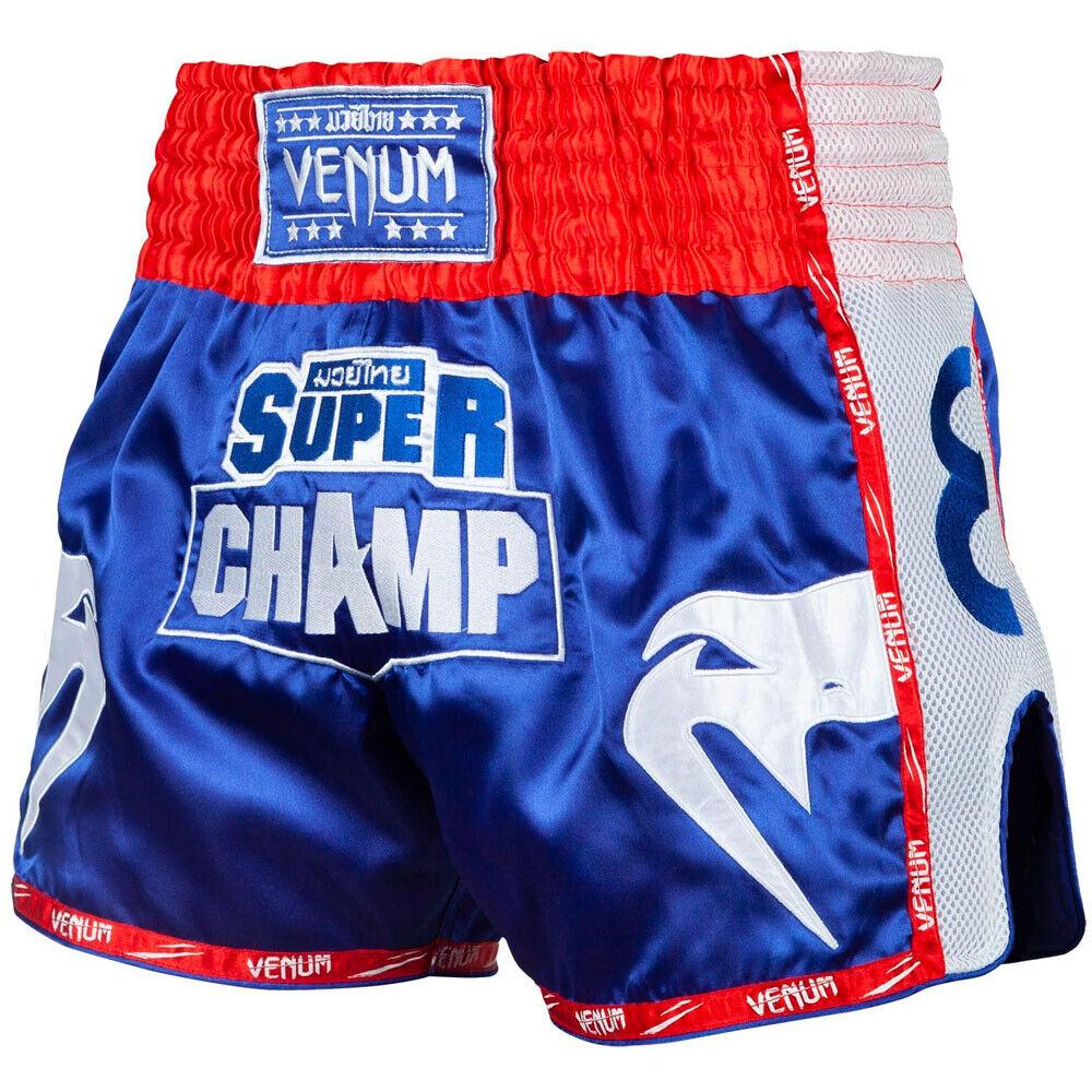 VENUM Muay Thai Shorts, Super Champ, blau-rot-weiß