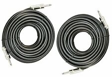 """2X 1/4"""" TO 1/4"""" 50 FT. TRUE 12 GAUGE WIRE AWG DJ/ PRO AUDIO SPEAKER CABLE"""