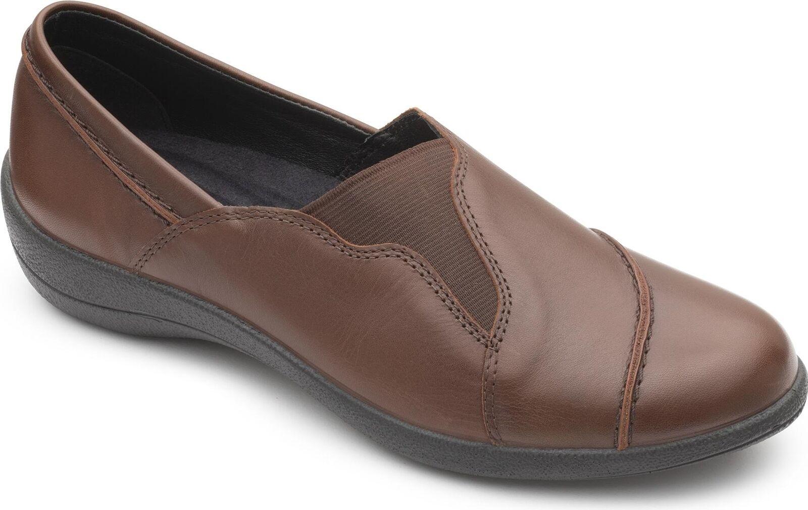 en femme Ruth Padders cuir Mocassins Tan Dark chaussures