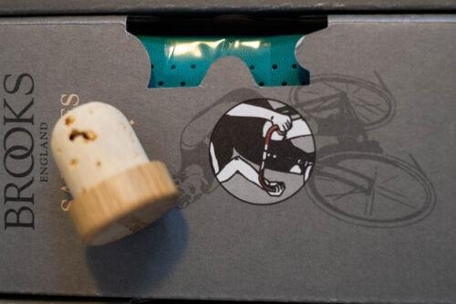 "Brooks Lenkerband Cordon Cuir Leather Bar Tape spécial couleurs avec /""holzstopfen/"""