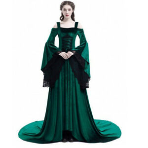 Image is loading Women-039-s-Medieval-Renaissance-Retro-Gown-Cosplay- 5cea96299