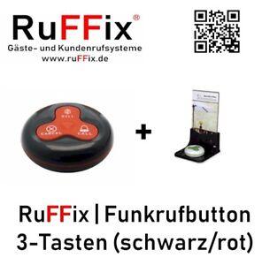 HonnêTe Ruffix ® L'original | Kundenruf Système | 1x Récepteur De Radiomessagerie Button Rouge + Exploitant-afficher Le Titre D'origine