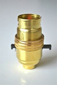 10 BRASS SWITCH BAYONET FITTING LAMP BULB HOLDER LAMP SHADE RING 1//2 INCH R1