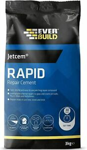 Everbuild 3kg Jetcem Premix Sand Rapid Set Cement JETCEM3 Fast repair mortar