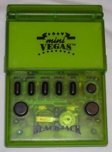 Vintage Mini Vegas Blackjack 1994 Hand Held Game Rare Translucent Green Electronic, Battery & Wind-up Other Battery Op Toys 1990-now