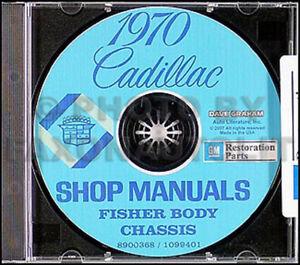 1970 Cadillac Shop Manual and Body Repair CD Calais ...