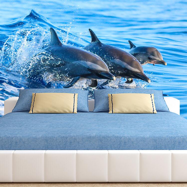 3D Viele Delfine 44 Fototapeten Wandbild Fototapete Bild Tapete Familie Kinder | Günstig  | Vielfältiges neues Design  | Charakteristisch
