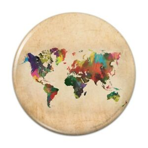 Colorful-Rainbow-Map-of-the-World-Earth-Globe-Pinback-Button-Pin-Badge