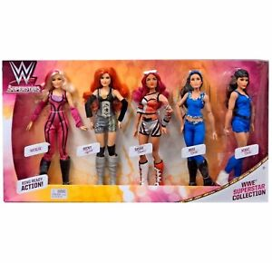 Wwe Fashion Dolls Pack de 5 figurines Super Stars pour collectionneurs Nouveau! 887961580136