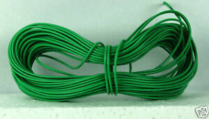 Model Railway Peco or Hornby Point Motor etc Wire 1x 10m Roll 7/0.2mm 1.4A Green