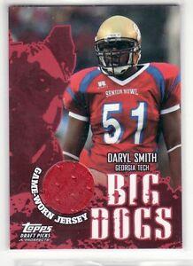 DARYL SMITH SENIOR BOWL JERSEY CARD BIG DOGS
