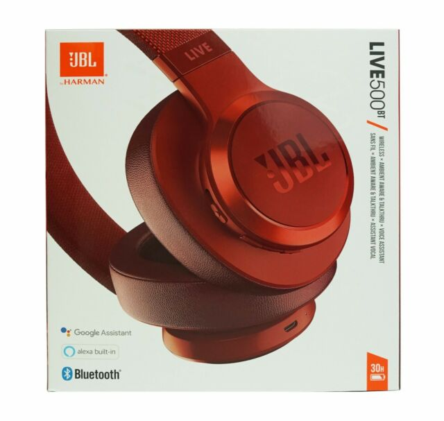 Jbl Live 500bt Over The Ear Headphones Red For Sale Online Ebay