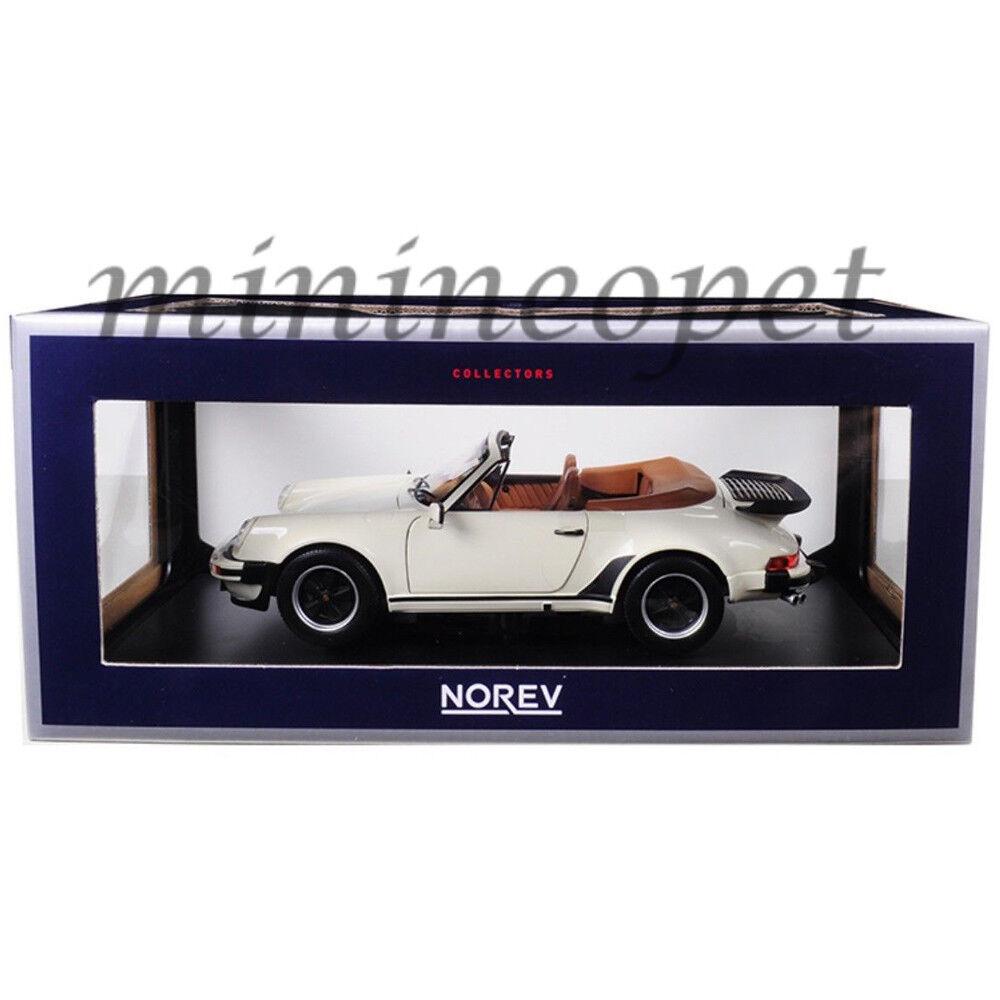 NOREV 187661 1987 PORSCHE 911 turbo cabriolet 1 18 Diecast voiture modèle ivoire