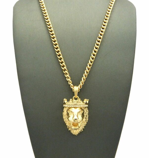 Iced out king crown lion hip hop pendant 5mm 24 cuban chain iced out king crown lion hip hop pendant 5mm 24 cuban chain necklace n0015g aloadofball Choice Image