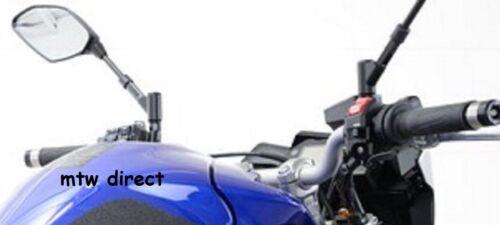 R/&G RACING PAIR M10 BLACK ANODISED MIRROR RISERS EXTENDERS  Yamaha MT-10 2016