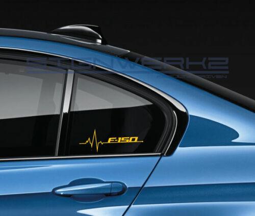 F-150 Heart Beat Pulse Decal Sticker left  ford svt GT Raptor Cobra Pair