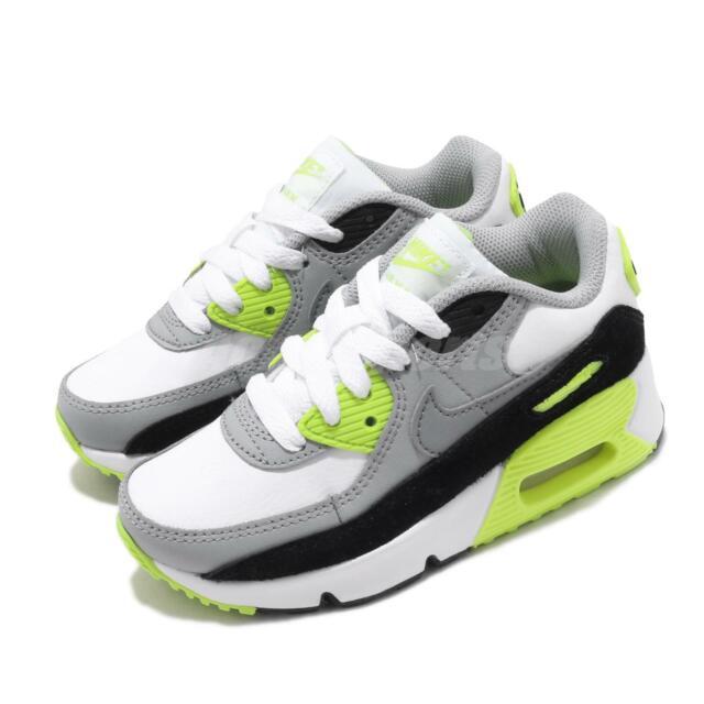 Nike Air Max 90 LTR PS Volt White Grey