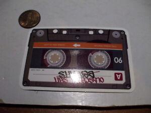 GLOSSY-CASSETTE-TAPE-Sticker-Decal-Bumper-Laptop-Skateboard-Phone-NEW