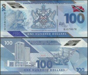 Trinidad and Tobago PNew  B241 100 Dollars 2019 UNC POLYMER