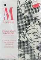 Isaac Mizrahi Ironing Board Cover & Pad 15 X 54 Black White Floral Check -