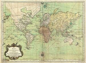 Old world map bellin nautical chart 1778 repro vintage image is loading old world map bellin nautical chart 1778 repro gumiabroncs Images