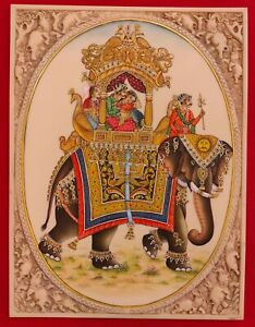 Hand-Painted-Mughal-Ambabari-Miniature-Painting-India-Art-on-Synthetic-Ivory