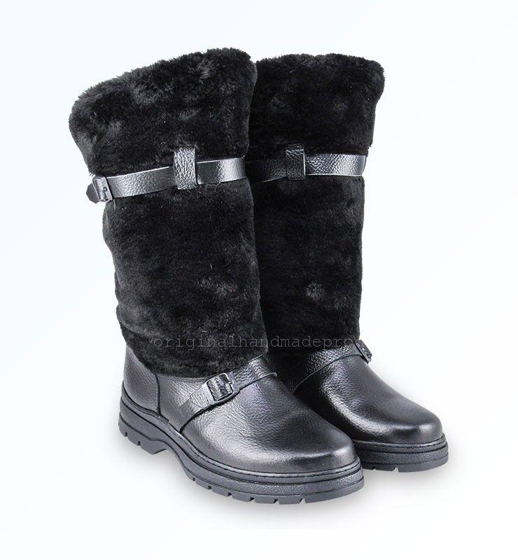 Russische High Fur Stiefel Stiefel Stiefel UNTY Pelzstiefel Schaffell Mukluks Winter Jagd Schuhe 04cb53