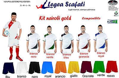 Kit Nairobi Gold Legea Sport Muta Divisa Set Calcio Calcetto Componibile