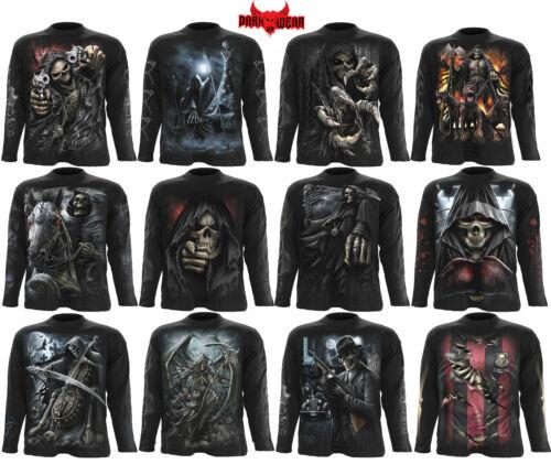 Spiral Direct Grim Reaper//Steam Punk//Gothic//Biker//Dark Wear//Long Sleeve T Shirt