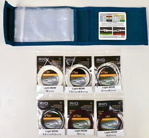 White//Black Light Tips Kit RIO Fly Fishing InTouch Skagit MOW